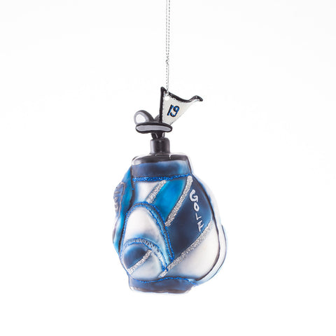Blue and Silver Golf Bag Ornament