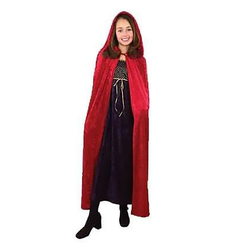 Childs Oversized Red Hooded Cape