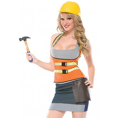 Cutie Construction Worker Womens Costume