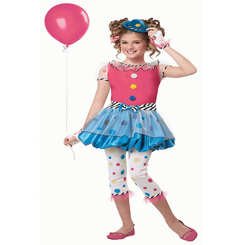 Dotsy Clown Girls Costume