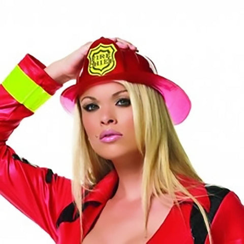 Red Plastic Fire Person Hat