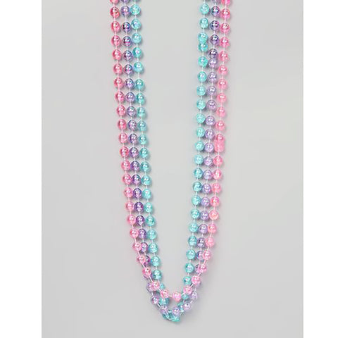 Girls Pastel Iridescent Beaded Necklace