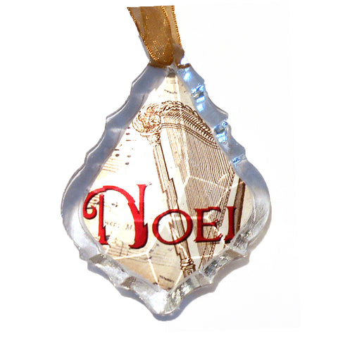 Noel or Peace Prism Ornament