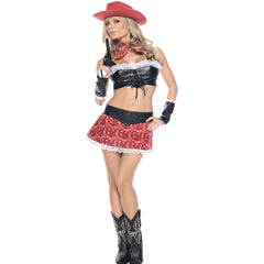 Red Em Cowgirl Womens Costume