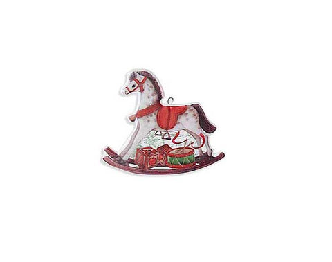 Double Sided Rocking Horse Ornament