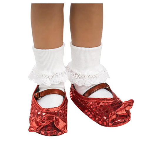 Childs Glittering Ruby Shoe Covers