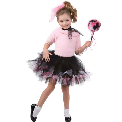 Girls Pink and Black Sock Hop Tutu