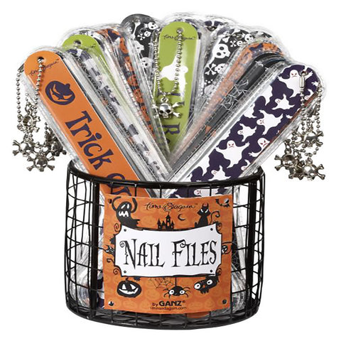 Halloween Nail File with Skull Charm