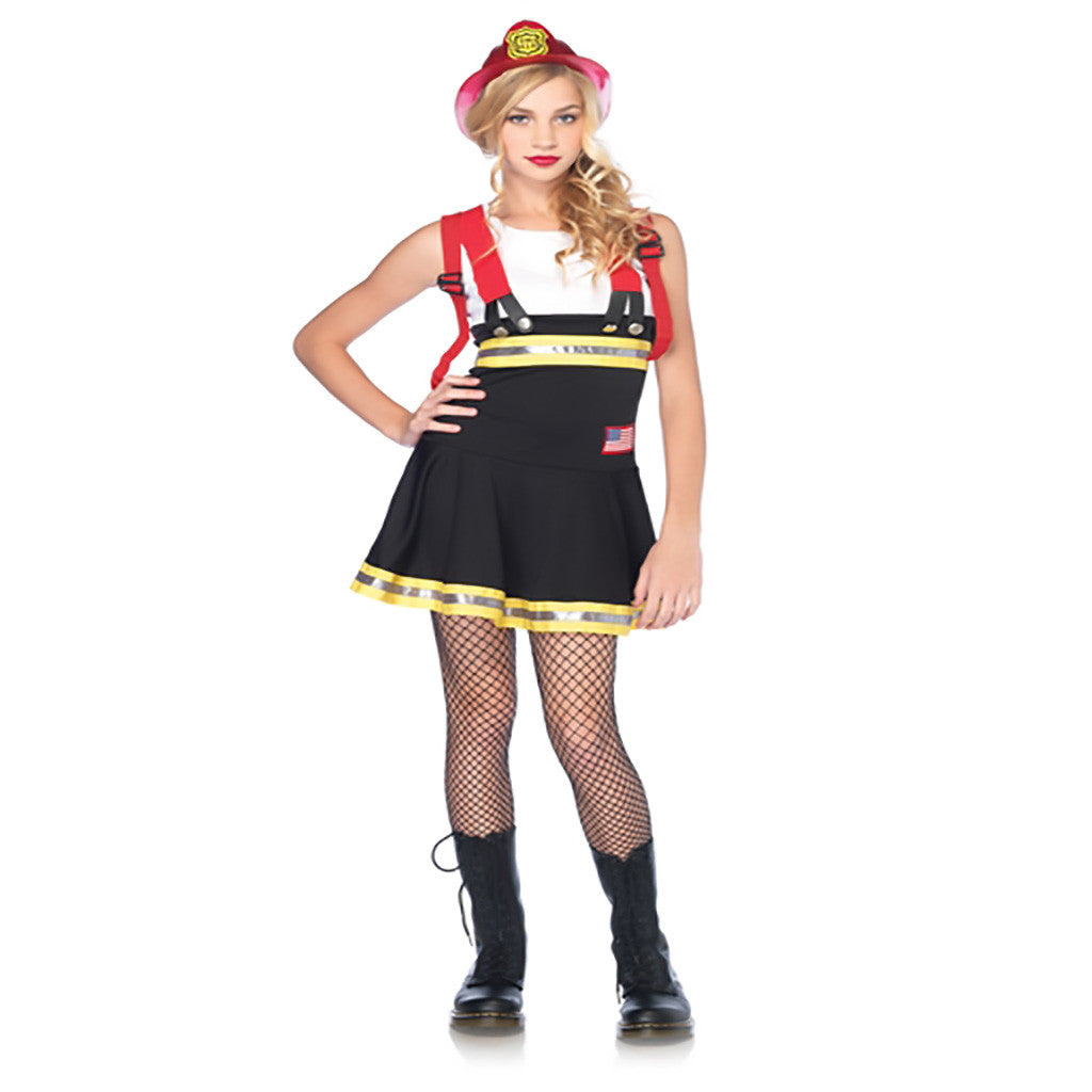 Sweetheart Fireman Tween Girls Costume