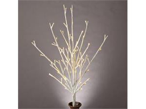 Battery Operated LED Glitter Branch with Timer