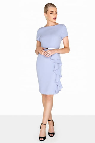 £30 sale Lilac Ruffle Pencil Dress