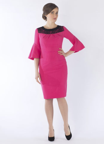 Discount Event Now £50 ....michelle dress pink /black