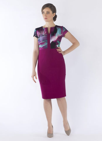 Discount Event now £50.....Roberta dress violet print