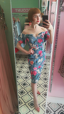 Sweetheart Floral Bardot Pencil Dress