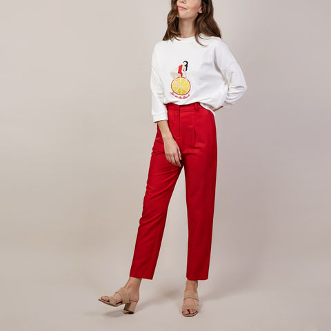 Discount Event ..... 25%...Red Plume Trousers