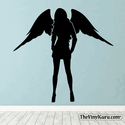 Sexy Angel Pin-Up Girl Wall Decal #00001
