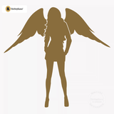 Sexy Angel Pin-Up Girl Wall Decal #00001 - Metallic Gold