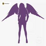 Sexy Angel Pin-Up Girl Wall Decal #00001 - Violet