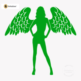 Sexy Angel Pin-Up Girl Wall Decal #00002 - Kelley Green