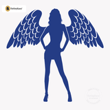 Sexy Angel Pin-Up Girl Wall Decal #00002 - King Blue