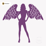 Sexy Angel Pin-Up Girl Wall Decal #00002 - Violet
