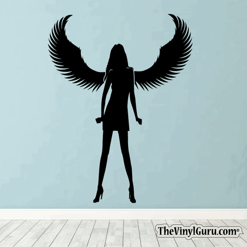 Sexy Angel Pin-Up Girl Wall Decal #00003