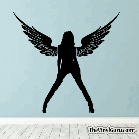 Sexy Angel Pin-Up Girl Wall Decal #00004