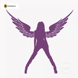 Sexy Angel Pin-Up Girl Wall Decal #00004 - Violet