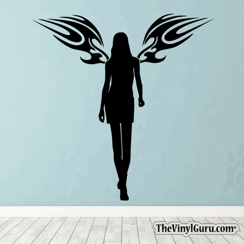 Sexy Angel Pin-Up Girl Wall Decal #00005