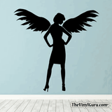 Sexy Angel Pin-Up Girl Wall Decal #00007