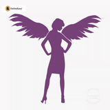 Sexy Angel Pin-Up Girl Wall Decal #00007 - Violet