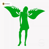 Sexy Angel Pin-Up Girl Wall Decal #00009 - Kelley Green