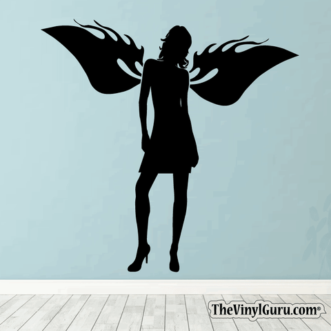 Sexy Angel Pin-Up Girl Wall Decal #00009