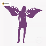 Sexy Angel Pin-Up Girl Wall Decal #00009 - Violet