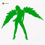 Sexy Angel Pin-Up Girl Wall Decal #00010 - Kelley Green