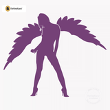 Sexy Angel Pin-Up Girl Wall Decal #00010 - Violet