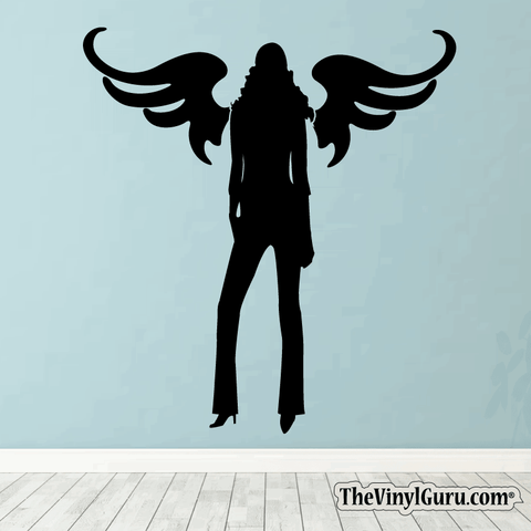 Sexy Angel Pin-Up Girl Wall Decal #00011