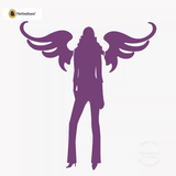 Sexy Angel Pin-Up Girl Wall Decal #00011 - Violet