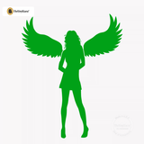 Sexy Angel Pin-Up Girl Wall Decal #00012 - Kelley Green