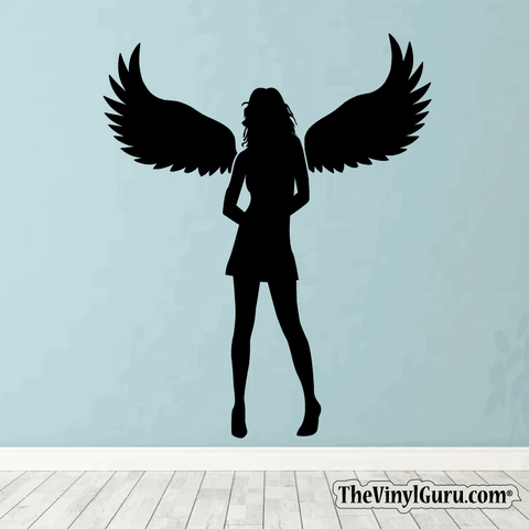 Sexy Angel Pin-Up Girl Wall Decal #00012