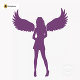 Sexy Angel Pin-Up Girl Wall Decal #00012 - Violet