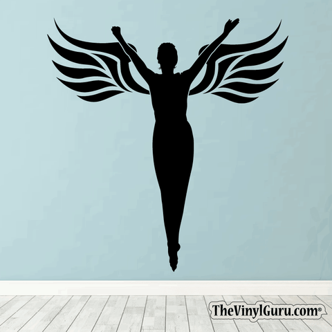 Sexy Angel Pin-Up Girl Wall Decal #00017