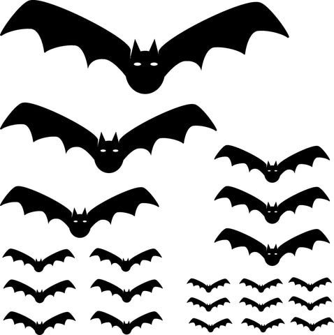 Bat Wall Decal Sticker Set 109