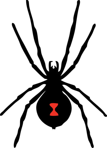 Black Widow Spider Insect Wall Decal Sticker 110