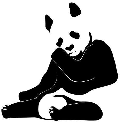 Panda Bear Wall Decal Sticker 111