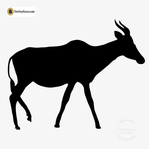 Antelope Wall Decal Sticker Vinyl Art in Black