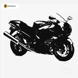 Motorcycle Wall Decal - Sport Bike Sticker #00004 - Black