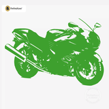 Motorcycle Wall Decal - Sport Bike Sticker #00004 - Kelley Green