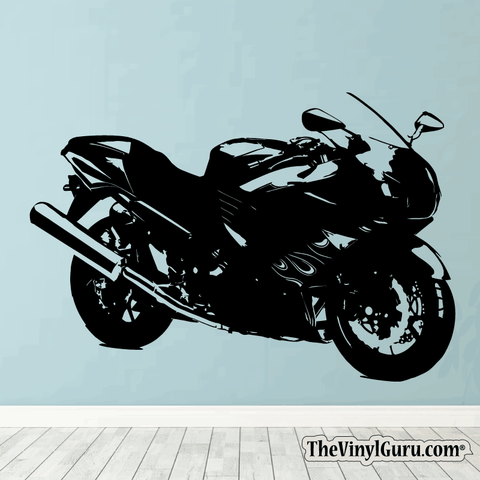 Motorcycle Wall Decal - Sport Bike Sticker #00004