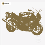 Motorcycle Wall Decal - Sport Bike Sticker #00004 - Metallic Gold